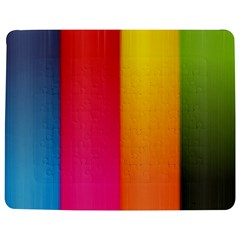 Rainbow Stripes Vertical Lines Colorful Blue Pink Orange Green Jigsaw Puzzle Photo Stand (rectangular)