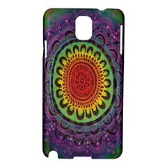 Rainbow Mandala Circle Samsung Galaxy Note 3 N9005 Hardshell Case