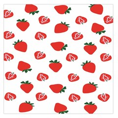 Red Fruit Strawberry Pattern Large Satin Scarf (square)