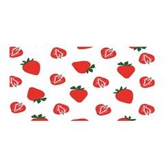 Red Fruit Strawberry Pattern Satin Wrap