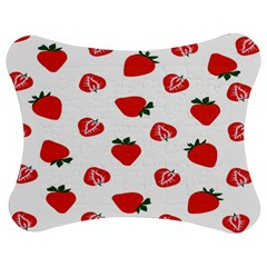 Red Fruit Strawberry Pattern Jigsaw Puzzle Photo Stand (bow)