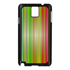 Rainbow Stripes Vertical Colorful Bright Samsung Galaxy Note 3 N9005 Case (black)