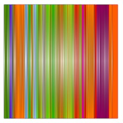 Rainbow Stripes Vertical Colorful Bright Large Satin Scarf (square)