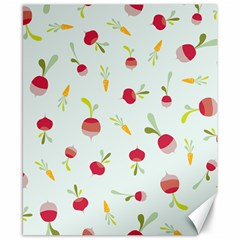 Root Vegetables Pattern Carrots Canvas 8  X 10