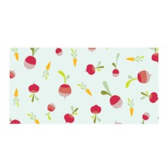 Root Vegetables Pattern Carrots Satin Wrap