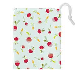 Root Vegetables Pattern Carrots Drawstring Pouches (xxl)