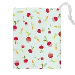 Root Vegetables Pattern Carrots Drawstring Pouches (XXL) Front