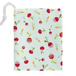 Root Vegetables Pattern Carrots Drawstring Pouches (XXL) Back