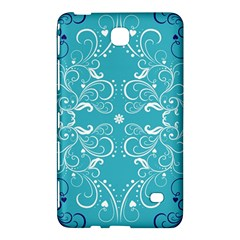 Repeatable Patterns Shutterstock Blue Leaf Heart Love Samsung Galaxy Tab 4 (8 ) Hardshell Case