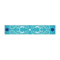 Repeatable Patterns Shutterstock Blue Leaf Heart Love Flano Scarf (mini)