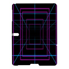 Retro Neon Grid Squares And Circle Pop Loop Motion Background Plaid Purple Samsung Galaxy Tab S (10 5 ) Hardshell Case