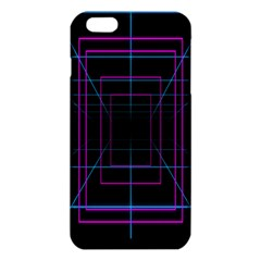 Retro Neon Grid Squares And Circle Pop Loop Motion Background Plaid Purple Iphone 6 Plus/6s Plus Tpu Case