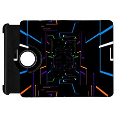 Seamless 3d Animation Digital Futuristic Tunnel Path Color Changing Geometric Electrical Line Zoomin Kindle Fire Hd 7