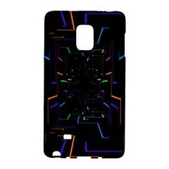 Seamless 3d Animation Digital Futuristic Tunnel Path Color Changing Geometric Electrical Line Zoomin Galaxy Note Edge
