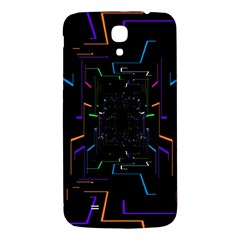 Seamless 3d Animation Digital Futuristic Tunnel Path Color Changing Geometric Electrical Line Zoomin Samsung Galaxy Mega I9200 Hardshell Back Case
