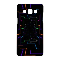 Seamless 3d Animation Digital Futuristic Tunnel Path Color Changing Geometric Electrical Line Zoomin Samsung Galaxy A5 Hardshell Case