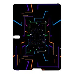 Seamless 3d Animation Digital Futuristic Tunnel Path Color Changing Geometric Electrical Line Zoomin Samsung Galaxy Tab S (10 5 ) Hardshell Case