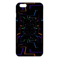 Seamless 3d Animation Digital Futuristic Tunnel Path Color Changing Geometric Electrical Line Zoomin Iphone 6 Plus/6s Plus Tpu Case