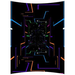 Seamless 3d Animation Digital Futuristic Tunnel Path Color Changing Geometric Electrical Line Zoomin Back Support Cushion