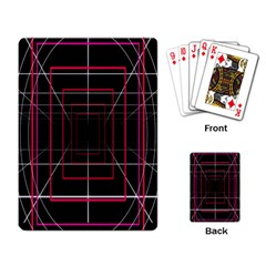 Retro Neon Grid Squares And Circle Pop Loop Motion Background Plaid Playing Card