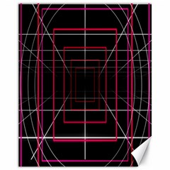 Retro Neon Grid Squares And Circle Pop Loop Motion Background Plaid Canvas 11  X 14