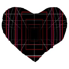 Retro Neon Grid Squares And Circle Pop Loop Motion Background Plaid Large 19  Premium Flano Heart Shape Cushions