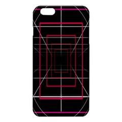 Retro Neon Grid Squares And Circle Pop Loop Motion Background Plaid Iphone 6 Plus/6s Plus Tpu Case