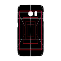 Retro Neon Grid Squares And Circle Pop Loop Motion Background Plaid Galaxy S6 Edge