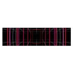 Retro Neon Grid Squares And Circle Pop Loop Motion Background Plaid Satin Scarf (oblong)