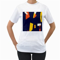 Slider Explore Further Women s T Shirt (white) (two Sided)