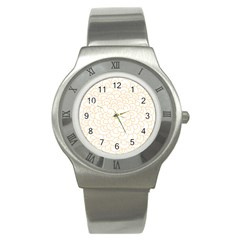 Rosette Flower Floral Stainless Steel Watch