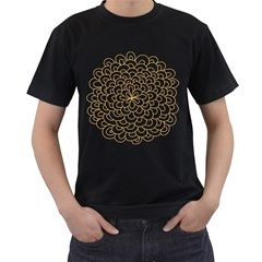 Rosette Flower Floral Men s T Shirt (black)
