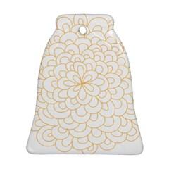 Rosette Flower Floral Ornament (bell)