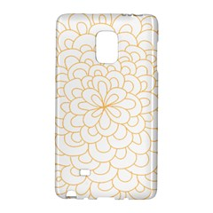 Rosette Flower Floral Galaxy Note Edge