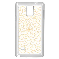 Rosette Flower Floral Samsung Galaxy Note 4 Case (white)