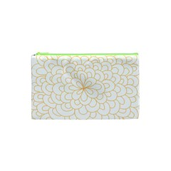 Rosette Flower Floral Cosmetic Bag (xs)