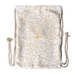Rosette Flower Floral Drawstring Bag (large)