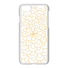 Rosette Flower Floral Apple Iphone 7 Seamless Case (white)