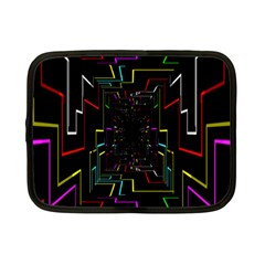 Seamless 3d Animation Digital Futuristic Tunnel Path Color Changing Geometric Electrical Line Zoomin Netbook Case (small)