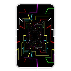 Seamless 3d Animation Digital Futuristic Tunnel Path Color Changing Geometric Electrical Line Zoomin Memory Card Reader
