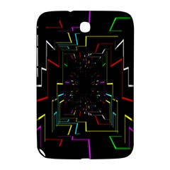 Seamless 3d Animation Digital Futuristic Tunnel Path Color Changing Geometric Electrical Line Zoomin Samsung Galaxy Note 8 0 N5100 Hardshell Case