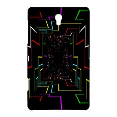 Seamless 3d Animation Digital Futuristic Tunnel Path Color Changing Geometric Electrical Line Zoomin Samsung Galaxy Tab S (8 4 ) Hardshell Case