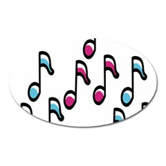 Sound Advice Royalty Free Music Blue Red Oval Magnet