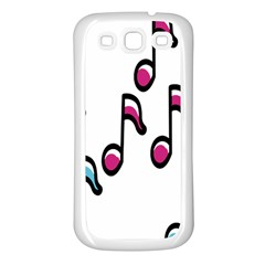 Sound Advice Royalty Free Music Blue Red Samsung Galaxy S3 Back Case (white)