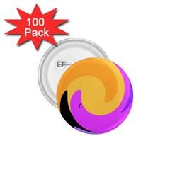 Spiral Digital Pop Rainbow 1 75  Buttons (100 Pack)