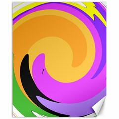 Spiral Digital Pop Rainbow Canvas 16  X 20