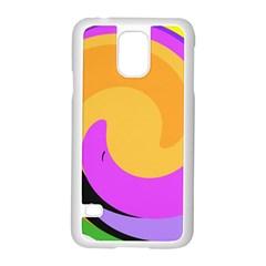 Spiral Digital Pop Rainbow Samsung Galaxy S5 Case (white)