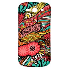 Seamless Texture Abstract Flowers Endless Background Ethnic Sea Art Samsung Galaxy S3 S Iii Classic Hardshell Back Case