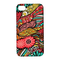 Seamless Texture Abstract Flowers Endless Background Ethnic Sea Art Apple Iphone 4/4s Hardshell Case With Stand