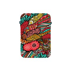 Seamless Texture Abstract Flowers Endless Background Ethnic Sea Art Apple Ipad Mini Protective Soft Cases